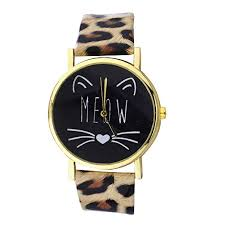 Lux Accessories Gold Tone Meow <b>Cat Face</b> and <b>Leopard</b> Pattern ...