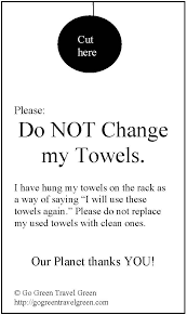 Re-use hotel towels