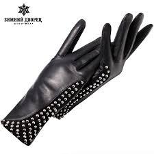 Online Shop <b>Genuine Leather</b> glovePunk <b>style</b> gloves <b>female</b> ...