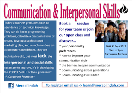 communication and interpersonal skills merapi indah advertisements
