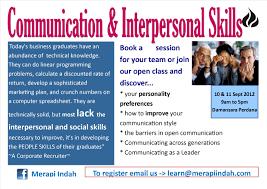 communication and interpersonal skills merapi indah advertisements