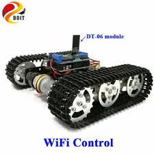 WiFi Control Smart Tank Car Chassis Crawler Tracked Robot ...