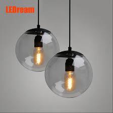 creative contemporary single head restaurant bar bedroom of children clothing store droplight of glass ball cheap contemporary lighting