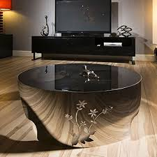 Modern Designer Large Round <b>Coffee Table Glass</b> Top Stainless ...