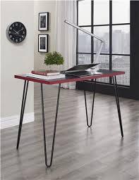 owen retro desk blackred altra furniture owen student writing desk multiple