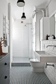 black white bathroom vintage