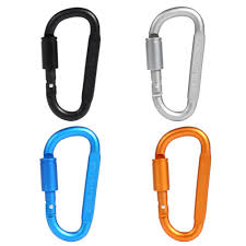 1pc Outdoor Camping Climbing Carabiner 8cm <b>D</b>-<b>shaped</b> with Nut ...