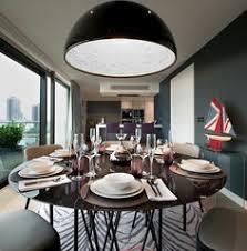 modern stylish dining area interior with black large bowl pendant light lighting pendantlights bowl pendant lighting