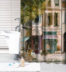 metal wall decor shop hobby: paris cafe shower curtain ceffdfebaf paris cafe shower curtain