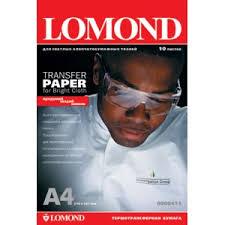 <b>Бумага LOMOND термотрансферная</b> для светлых х/б тканей ...