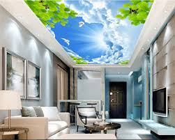 <b>beibehang</b> Custom <b>fashion beautiful</b> indoor wallpaper blue sky ...