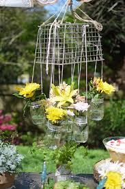 hanging mason jar flower chandelier adore diy hanging mason jar