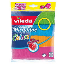 <b>Салфетка</b> из микрофибры <b>Vileda Colors</b>, 4 шт