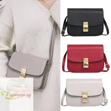 <b>Elegant Shoulder</b> Messenger Handbags Women Flap PU Leather ...
