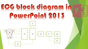 powerpoint tutorial  how to draw ecg block diagram in powerpoint    powerpoint tutorial  how to draw ecg block diagram in powerpoint