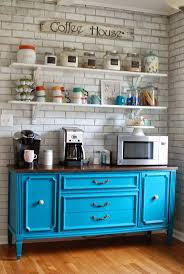 turned coffee bar turn view in gallery colorful coffee station with gorgeous blue dresser