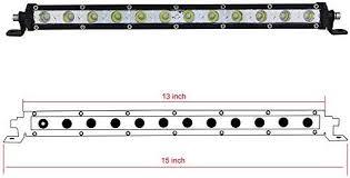 Willpower <b>13</b> inch <b>60W</b> Single Row LED Light Bar Low Profile <b>Ultra</b> ...