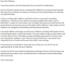 cover letter for a babysitting  seangarrette cocover letter for a babysitting resume