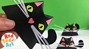 EASY <b>BLACK CAT DIY</b> - Paper Projects for Halloween - Paper Cup ...