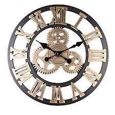 AjoliHome Retro Gear Clock Living Room Wall Clock ... - Amazon.com