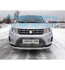 <b>Защита передняя нижняя</b> (<b>овальная</b>) на Suzuki Vitara SUZVIT15-04