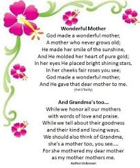 Mother Day Poems For Mothers In Heaven Happy Mothers Day In Heaven ... via Relatably.com