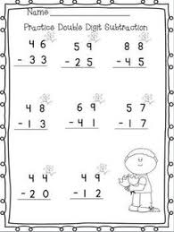1000+ images about math on Pinterest | Skip counting, Subtraction ...Double Digit Adding & Subtracting w/ NO regrouping Spring printables- 12 printables!