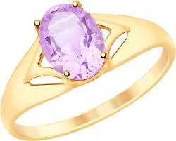 <b>Кольцо Diamant из золота</b> с аметистом — купить в интернет ...