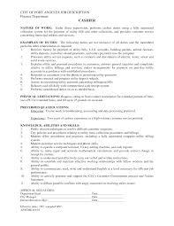 Cashier Job Description Resume table games cashier Cashier Resume