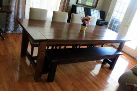 Hickory Dining Room Table Teak Dining Room Bench Furniture Sturdy Dining Table With Bench