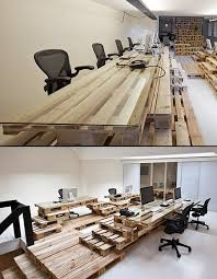 creative office furniture made from wooden pallets ad agency surprising office
