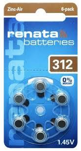 Купить <b>Батарейка Renata ZA10 6</b> шт блистер по низкой цене с ...