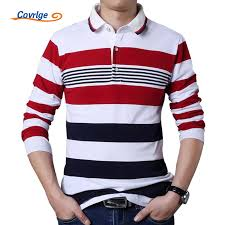 <b>Covrlge Male</b> Polo Shirt Brand Fashion <b>Men's Striped</b> Tee Shirt ...