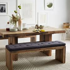 long wood dining table:  long dining table emmerson reclaimed wood dining bench narrow dining table ideas