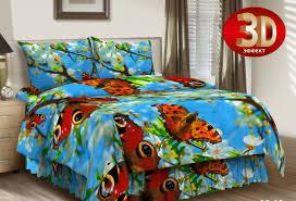 <b>Комплект постельного белья</b> Витэлия 1,5сп <b>Бабочки бязь</b> 3D ...