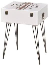 vidaXL <b>Side Cabinet</b>, White, 40x30x57 cm - Eclectic - Nightstands ...