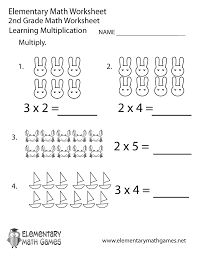 Free Printable Multiplication Worksheet for Second GradeSecond Grade Multiplication Worksheet Printable.