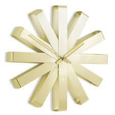 <b>Часы настенные Ribbon</b> латунь купить в интернет-магазине ...