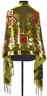 Green Chinese National Trends <b>Women</b> Pashmina <b>Scarves 100</b> ...