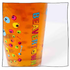 Psychedelic <b>Skull</b> Pint <b>Glass</b> – Beavertown Brewery