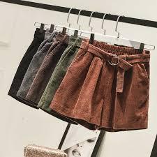 <b>New Autumn</b> Winter Casual Elastic Waist Corduroy <b>Shorts Women</b> ...