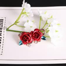 Beautiful <b>Crystal</b> Cubic Zirconia Rose Flower Earrings   Jewelry ...