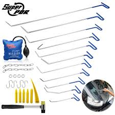 29× PDR Tools Paintless Dent <b>Removal</b> Repair <b>Spring Steel</b> Rods ...