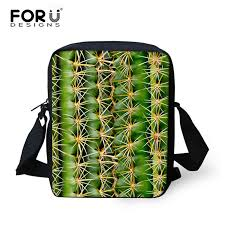 <b>FORUDESIGNS</b> Casual School Bag For <b>Kids 3D</b> Green Leaves Print ...