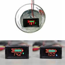 2 in1 waterproof battery capacity indicator led digital voltage <b>12v 24v</b> ...