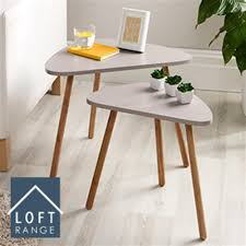 Tables Mink/White Triangle <b>Side Table</b> End <b>Nested</b> Table Coffee ...