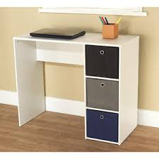 student writing desk with 3 fabric bins multiple colors altra furniture owen student writing desk multiple