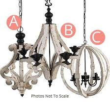 distressed wood chandelier chandeliers white chandelier dcor steals amazing wooden chandelier