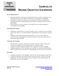 resume examples objectives resume resume examples objective statement with professional experience as accounting