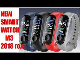 <b>M3 Smart</b> Watch Bracelet Heart Rate Blood. Unboxing and Review ...